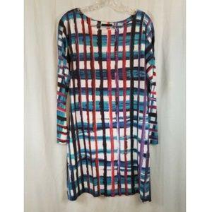 Nally & Millie Multi Color Striped Knit Dress L
